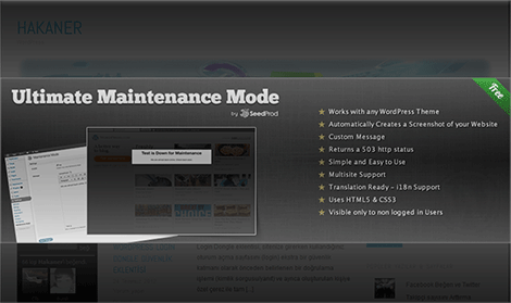 ultimate maintenance mode