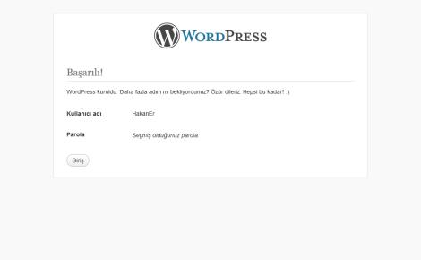 wordpress kurulum -2