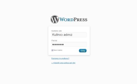 wordpress kurulum -3
