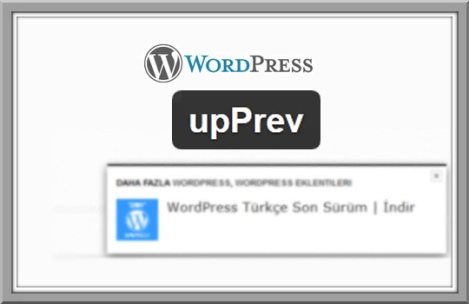 wordpress upprev eklentisi