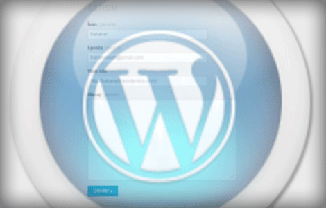 wordpress_com iletisim formu