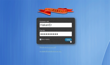 custom login örnek