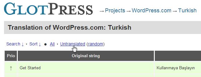 GlotPress Türkçe