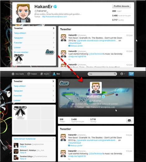 Twitter Güncelleme Önce-Sonra