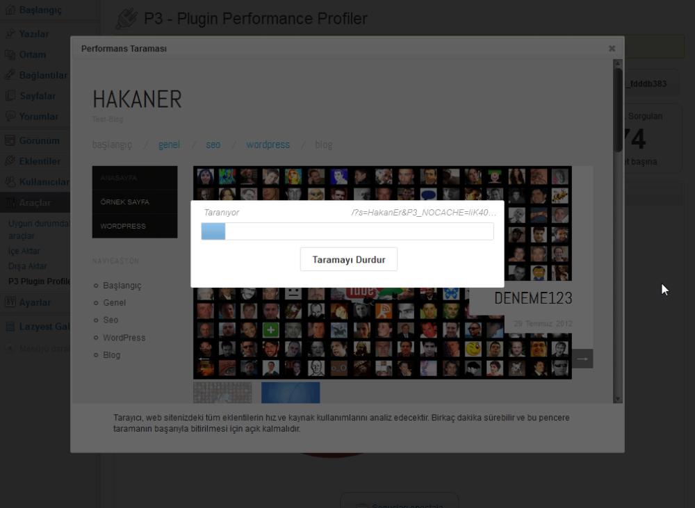 P3 (Plugin Performance Profiler) Eklentisi (2/6)