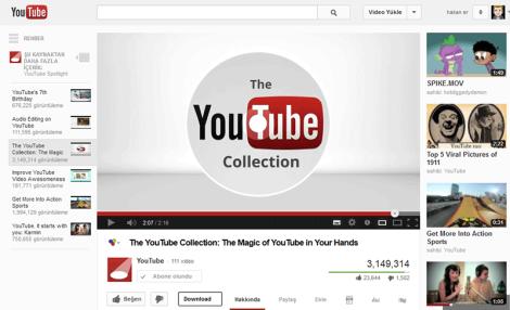 Youtube Yeni Video Sayfası