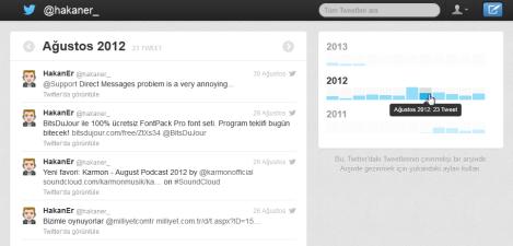 Twitter Arşivi İndex