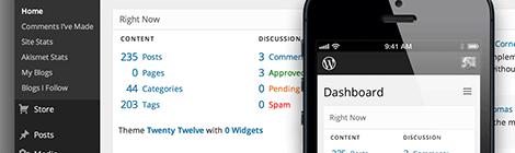 WordPress.com Yeni yönetici paneli