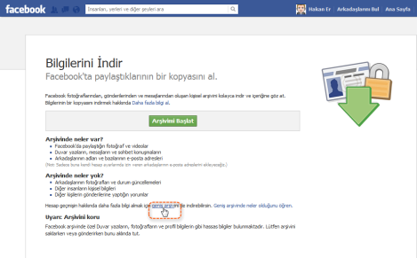 Facebook geniş arşiv